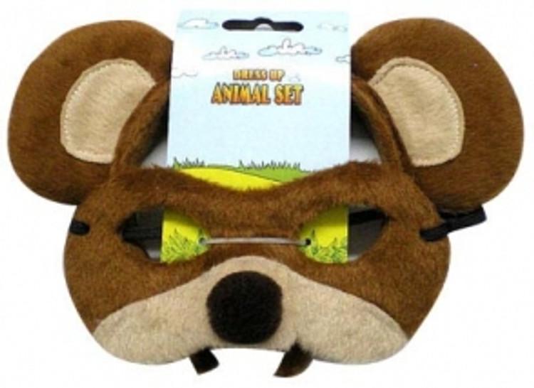 Bear Animal Headband & Mask Set
