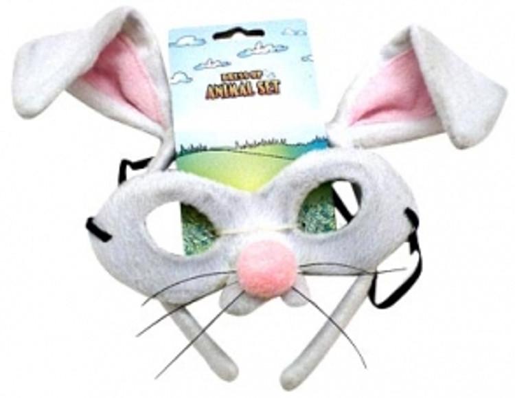 Rabbit Animal Headband & Mask Set
