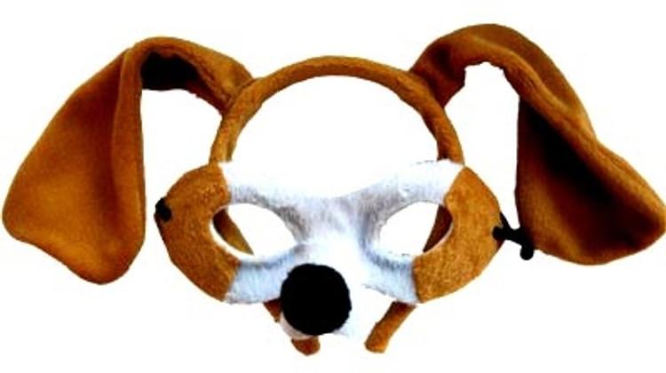 Dog Animal Headband & Mask Set