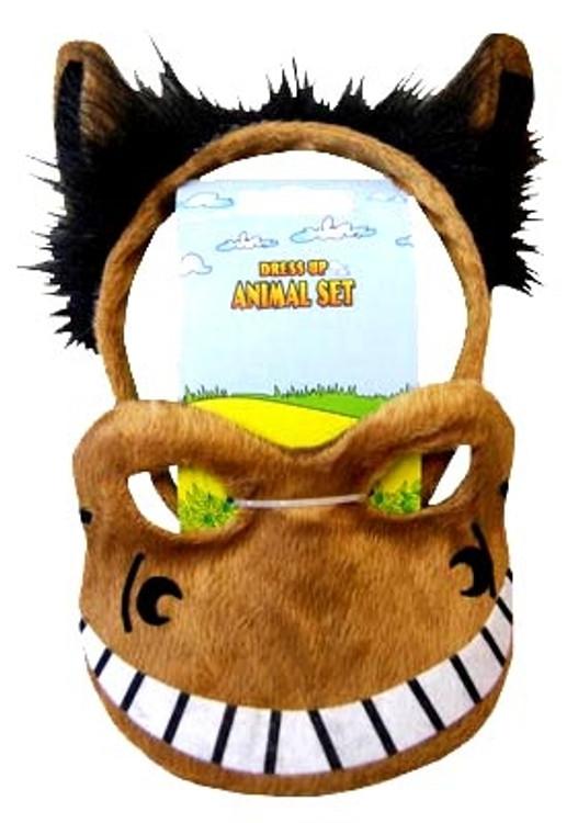 Horse Animal Headband & Mask Set