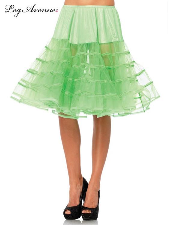 Petticoat Mid Length Neon Green