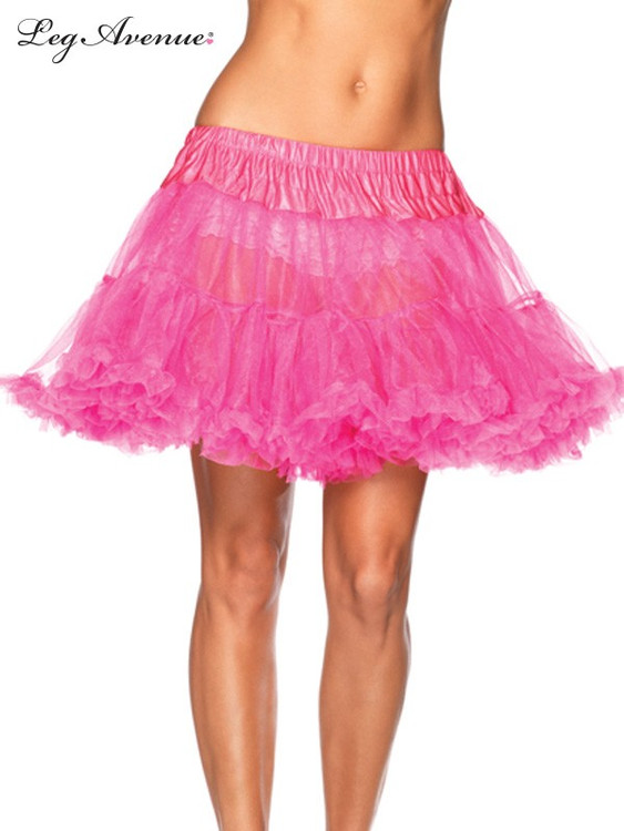 Petticoat Layered Tulle Neon Pink