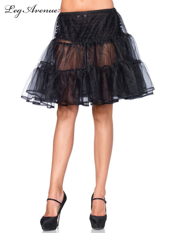Petticoat Knee Length Shimmer Skirt