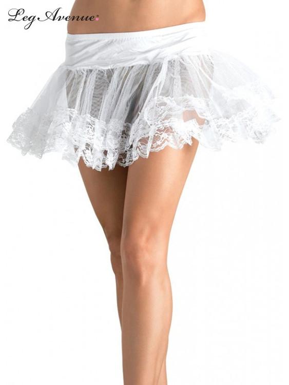 Petticoat Lace Trimmed White