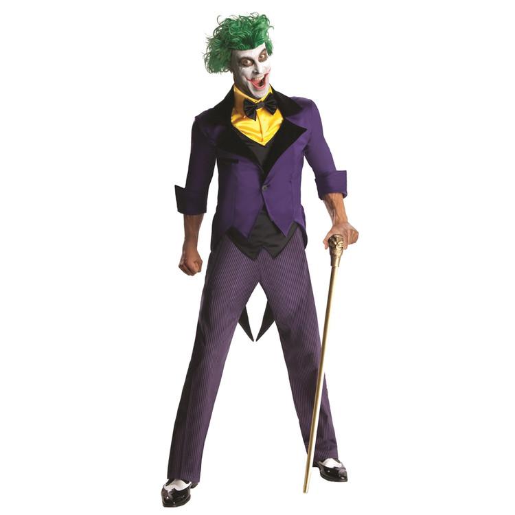 Joker Costume Adult Classic 1966 Batman TV Series Halloween Fancy Dress