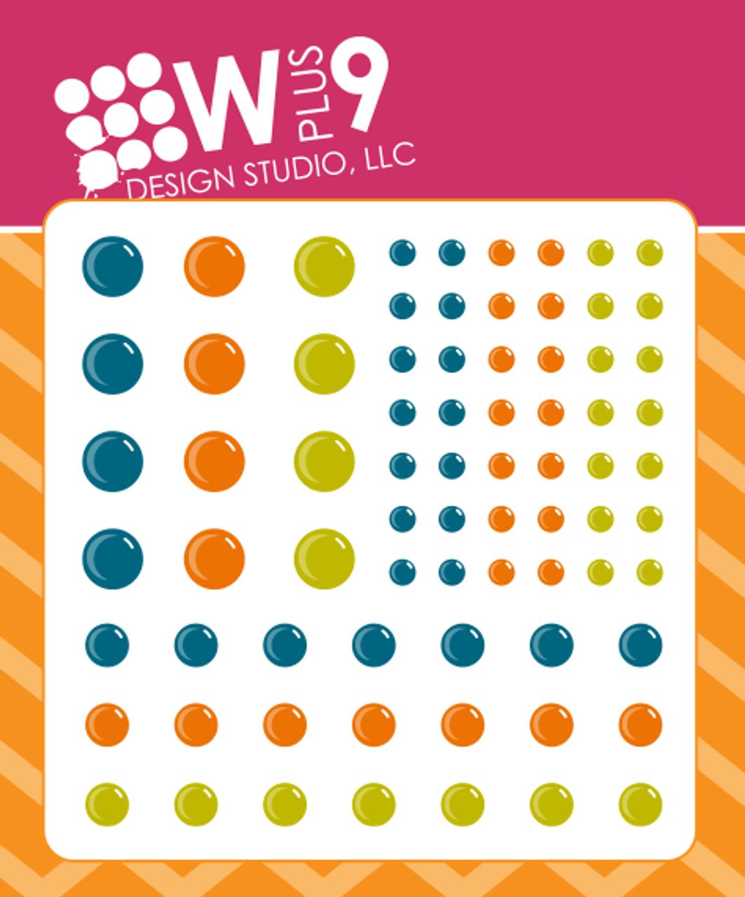 Enamel Dots Autumn Splendor Blue Wplus9 Design Studio Llc