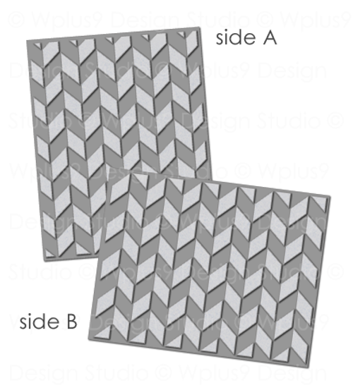 Chevron Impression Plate