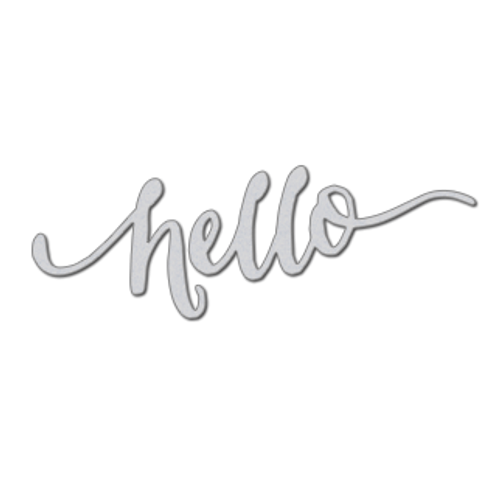Hand Lettered Hello Die