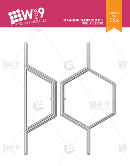 Hexagon Gatefold Die