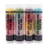 In Our Mystery?? ... All of the flavors you will enjoy are ??? There are still 3 layers of flavor in each one of these tubes but the flavors are all a mystery!    All of the lip balms no matter what color in the tube... apply clear to the lips!  These lip balms are moisturizing and are amazing!   4 Pack ~ Mystery??... You never know what flavor you will get!