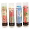 Our Christmas lip balm 4 Pack  You're going to go wild over these 4 moisturizing and multi flavored lip balms! Each themed Christmas tube offers 3 flavors... they are just waiting for you to try them all! The colors in the tubes are beautiful BUT they are only to show you what flavor you are on, or going to next!  For example: The first tube on the left in the picture of Our Christmas Pack... The first flavor you will enjoy is the Snow Cone for the whole white section, once the white is all gone you will go to the red which is Gummy Bear, then onto green and enjoy Cotton Candy!  All of the lip balms no matter what color in the tube... apply clear to the lips!  Below you will find a complete list of each lip balm and the wonderful flavors you will enjoy. When you get Our Christmas Pack you will have multiple lip balm flavors for yourself or plenty to share with all of your friends to enjoy! These lip balms are moisturizing and are amazing! By ordering Our Christmas 3 Pack you save...$1.00, Higher discounts if you click on the Bulk pricing!!  Happy Holidays~         White: Snow Cone,Red: Gummy Bear, and Green: Cotton Candy Merry Christmas ~       Blue : Raspberry, White: Buttercream, and Blue: Fruit Punch Happy Holidays ~        Red: Cranberry, Green: Mint Truffle, and White: White Chocolate    *** These are shown in the picture from left to right  All Gettin Lippy flavored lip balms:  The first ever multi-flavored lip balm... never get tired of just one flavor! Unlike other lip balms, Gettin Lippy lip balms are made to deliver the best moisturizing lip balm Moisturizing, and make your lips feel like silk! Long lasting, you might want to reapply for the wonderful aroma to enjoy, but the lip balm last a long time! No sticky feeling on your lips! Best lip balm!!! Applies Clear to Lips! Great gift idea for holidays, special occasions, or to share with friends! MADE IN THE USA!!