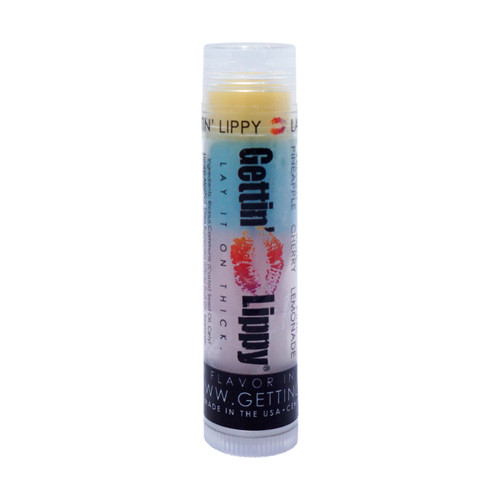 The first flavor you will enjoy is the Pineapple for the whole yellow section, once the yellow is all gone you will go to the blue which is Cherry, then onto pink and enjoy Pink Lemonade!  All of the lip balms no matter what color in the tube... apply clear to the lips!  These lip balms are moisturizing and are amazing!   By ordering 6 or 12 of these lip balms it will save you $$$$! So don't forget to get some for your friends!!  1 ~ Yellow: Pineapple, Blue: Cherry, and Pink: Pink Lemonade