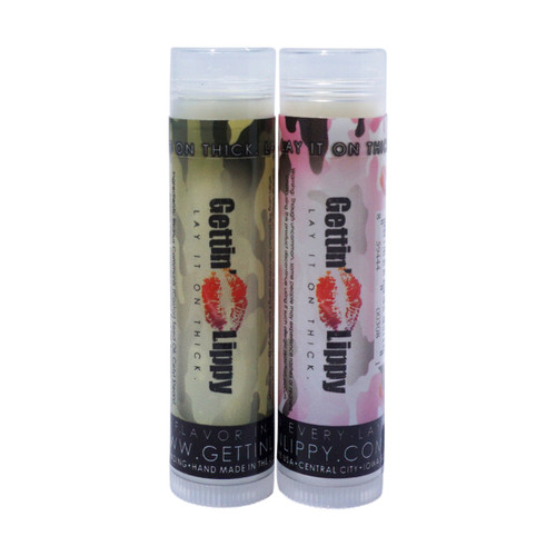 You're going to go wild over this moisturizing lip balm! This lip balm is 100% natural ingredients, no flavor, no color added!!   By ordering 3, 6 or 12 of these lip balms it will save you $$$$! So don't forget to get some for your friends!!  *** This is a single tube, with either the green camouflage, or the pink camouflage. There is no difference between the green or the pink besides the label color of your choice!