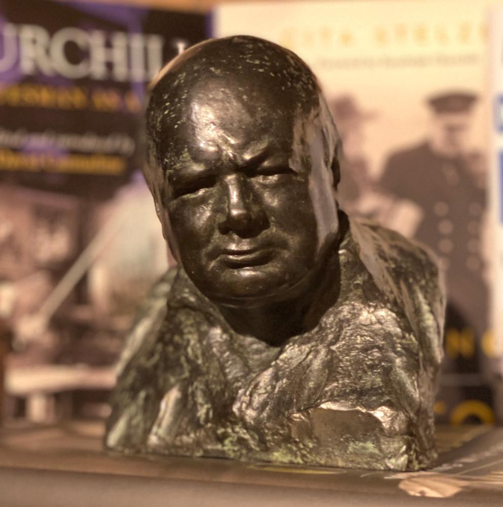 Wartime Leader Bust by Oscar Nemon