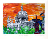 """St. Paul's Cathedral"" Print by Edwina Sandys (signed)"