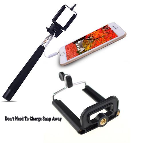 Selfie Monopod Z07-5S For iPhones & Androids Phones Color (Black)
