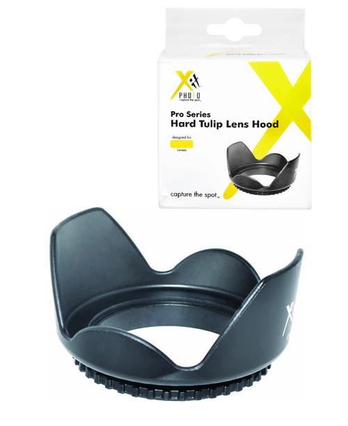 Xit XT67HLH 67mm Hard Tulip Shaped Lens Hood (Black)