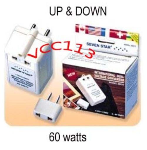 60 WATT TRAVEL VOLTAGE CONVERTER STEP UP/DOWN 110/220V