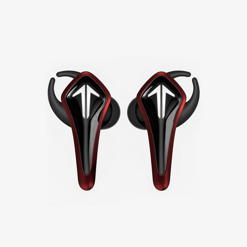 Saramonic GamesMonic Bluetooth 5.0 Wireless TWS Earbuds with Built-in Mic, Charging Case, IPX5 Water Resistance, Premium Sound & Enhanced Bass (SR-BH60-R), Red