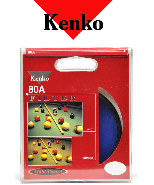 KENKO JAPAN 49mm 80A MULTI-COATED FILTER Color Correction Filter. increase Color Temperature, 3200k to 5500k
