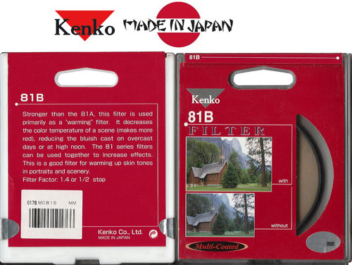 Kenko Japan 55mm 81B MULTI COATED WARMING Digital Filter - KNMC7281B