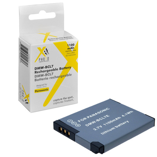 Xit XTBCL7 Lithium Battery for Panasonic BCL7 Replacement for Lumix Cameras (Grey)