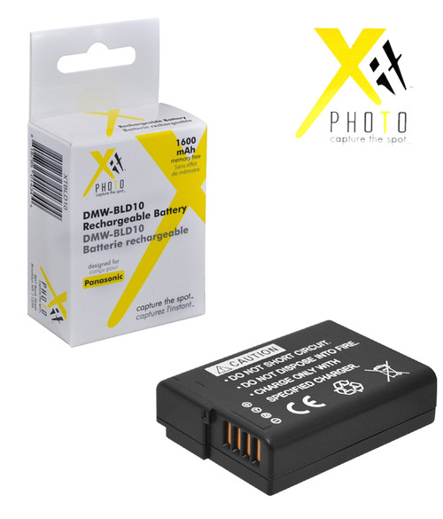 Xit XTBLD10 Lithium Battery for Panasonic BLD10 Replacement for Lumix GF2 Cameras (Black)
