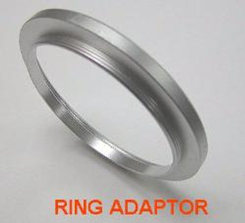 46mm to 37mm Step-Down Ring Adapter Silver