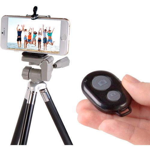 Vivitar Infinite Universal Wireless Selfie Remote Shutter Release Compatible With Android & iOs Smartphones -Black