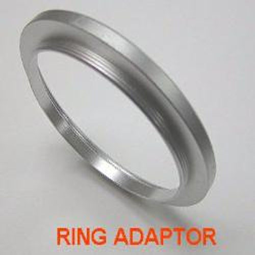 30.5mm>30mm Step-Down Ring Adapter Silver