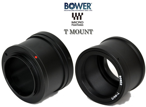 Opteka T-Mount Lens Adapter for Panasonic G1, GH1, Olympus PEN E-P1, E-P2, and other Micro Four Thirds Cameras