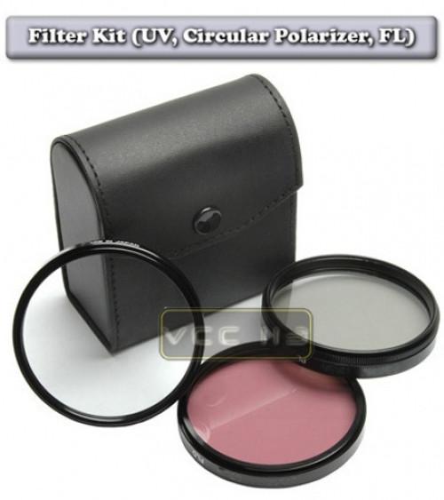 74MM FILTER Kit UV C-PL FL-D 74mm HD For Sony DSC-H7 DSC-H9 DSC-H50 UV/PL/FD