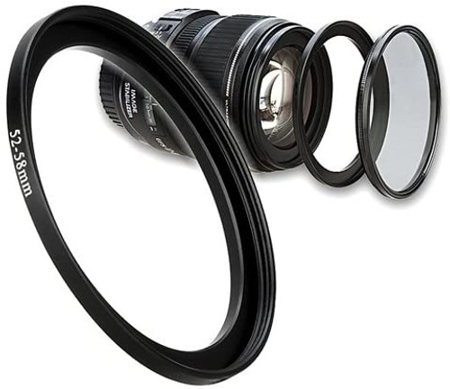 52mm-58mm Step Up Ring Filter Adapter For 52mm camera lenses & 58mm accessories
