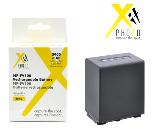 Xit XTNPFV100 5900mAh Lithium Ion Replacement Battery for Sony NPFV100 (Black)
