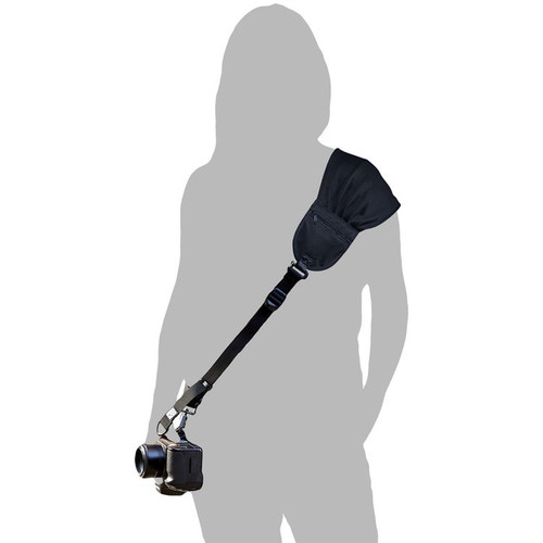Nicole Elliott by BLACKRAPID, Comfortable Camera Strap for Women, Black on boths Side, 1pc of Safety Tether Included