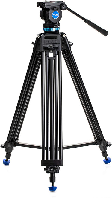 Benro KH25P Video Tripod with Head, 11lb Payload, Continuous Pan Drag, Anti-Rotation Camera Plate (KH25P)