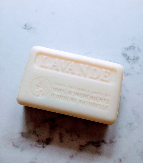 Marseille soap bar 100% Natural - Organic - palm free 125g - Lavender