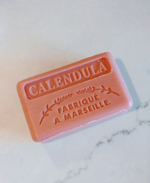 125g Marseille soap bar 100% Natural with Calendula - perfect for fragile or dry skin