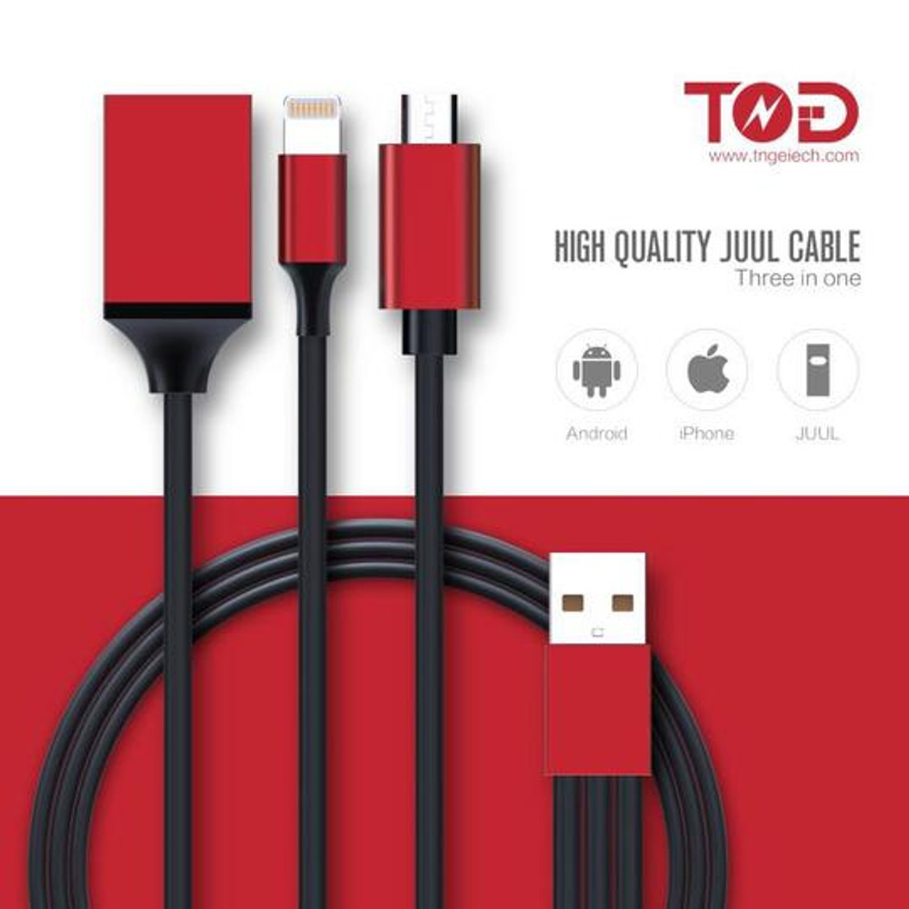 3 in 1 Juul Charging Cable By TNGETECH