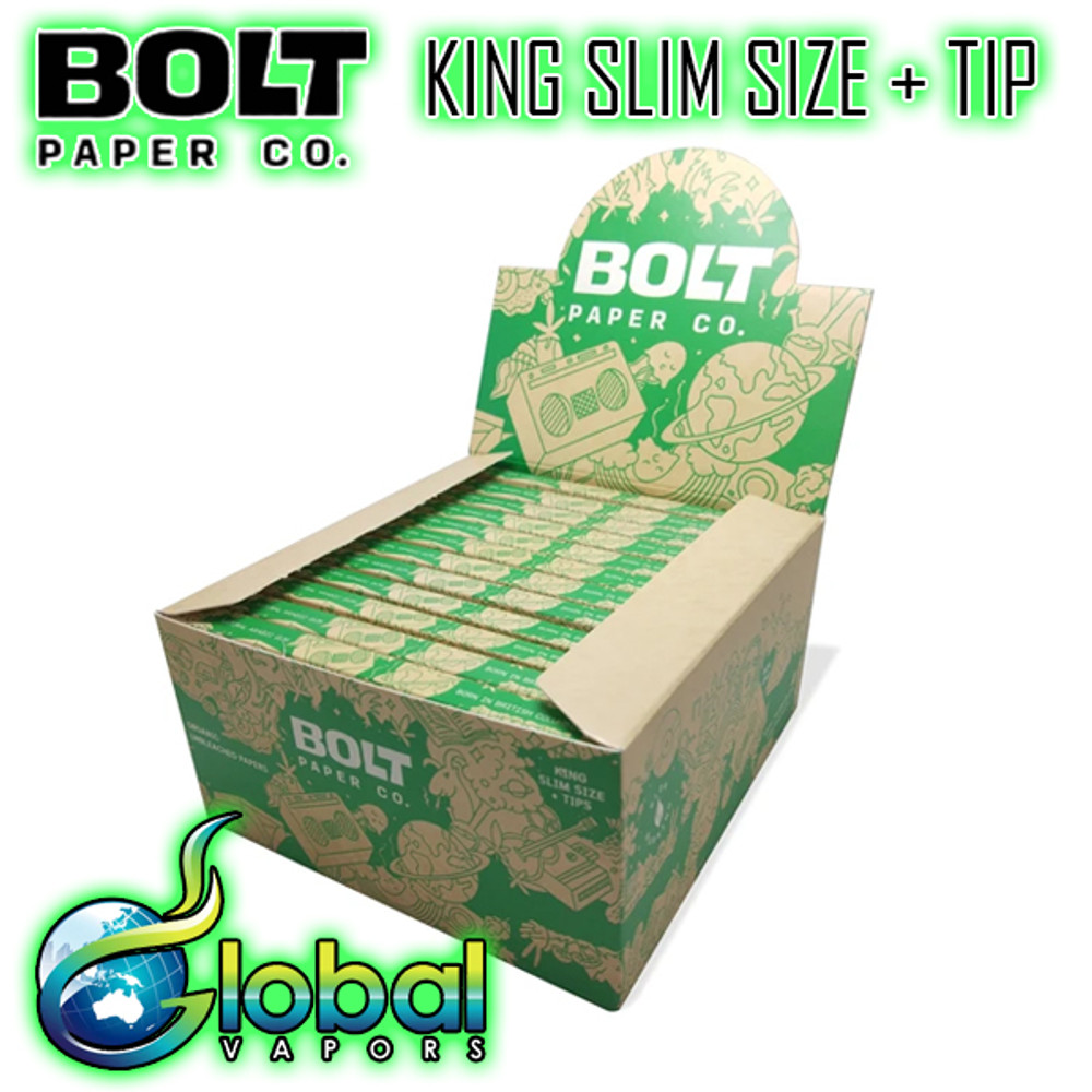 Bolt Paper Co King Slim Size (With Tip) - Case of 24