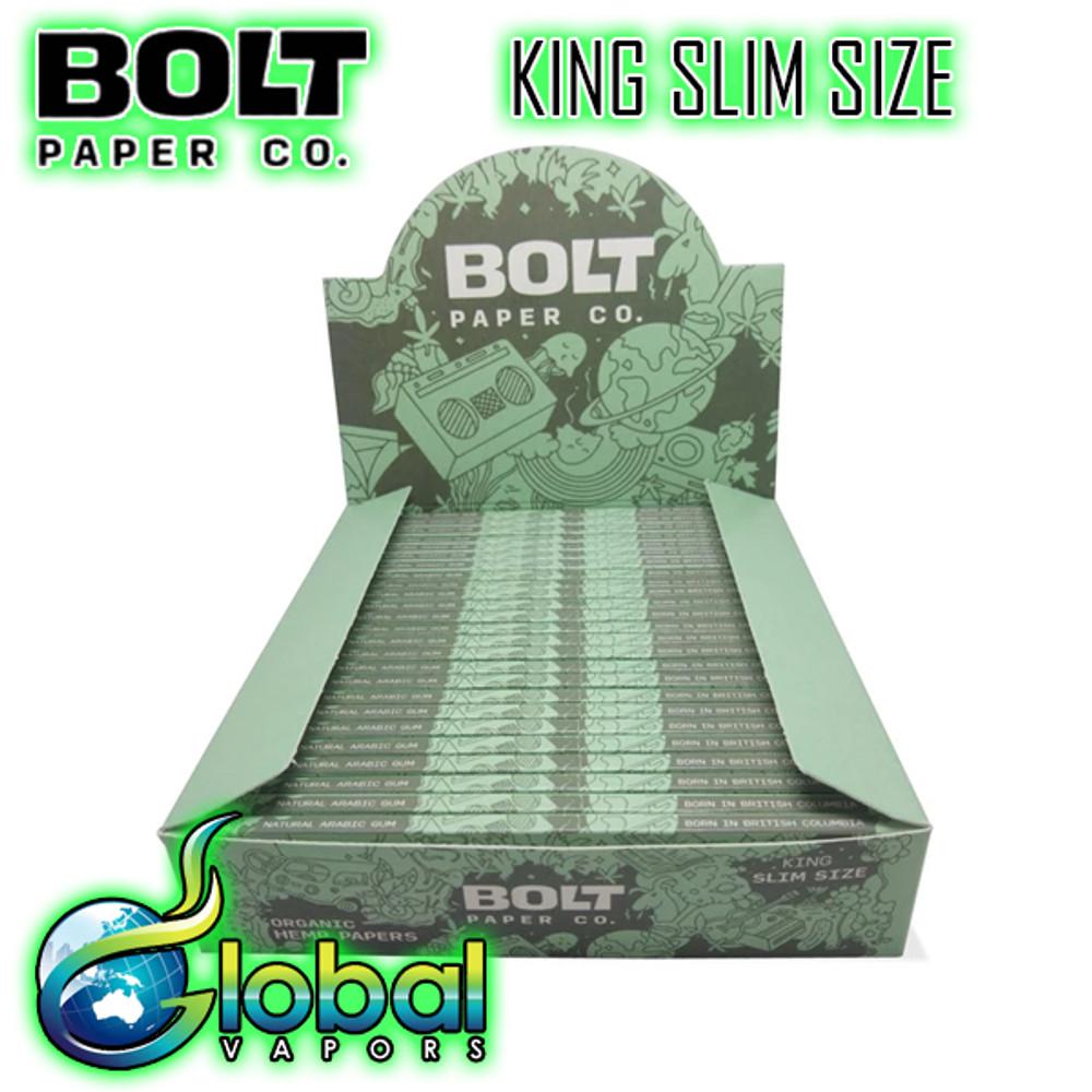 Bolt Paper Co King Slim Size (No Tip) - Case of 25