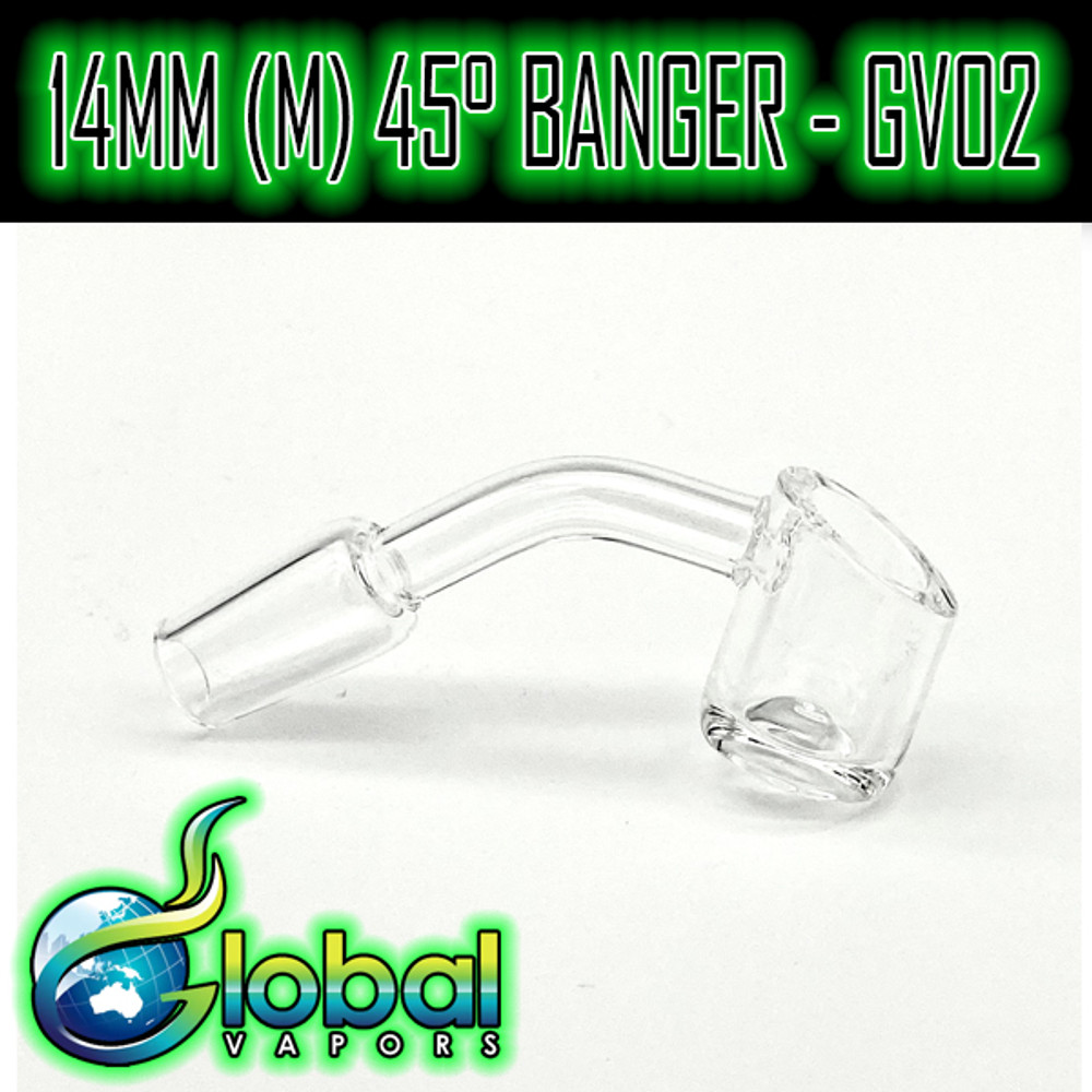 14mm Male 45° Slanted Top Banger - GV02