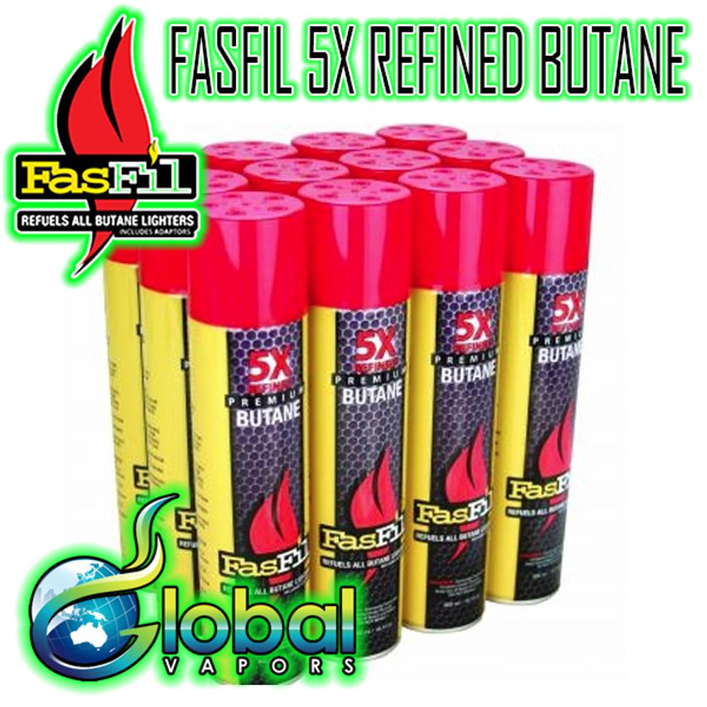 FasFil 5X Refined 300ml Butane - 12 Pack