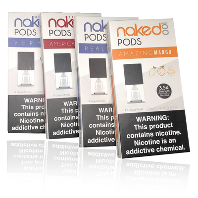 Naked 100 Replacement Pods (4 Pack,
