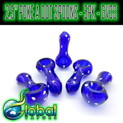 """2.5"""" Poke A Dot Spoon - 5pk - GV33"""