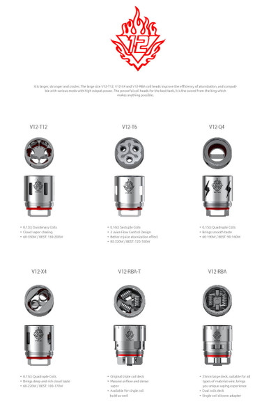 Smok TFV12 Replacement Coils (3pack)