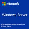 Windows Server 2012 Remote Desktop Services - 5 User CALs