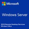 Windows Server 2016 Remote Desktop Services - 20 User CALs