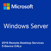 Windows Server 2016 Remote Desktop Services - 5 Device CALs