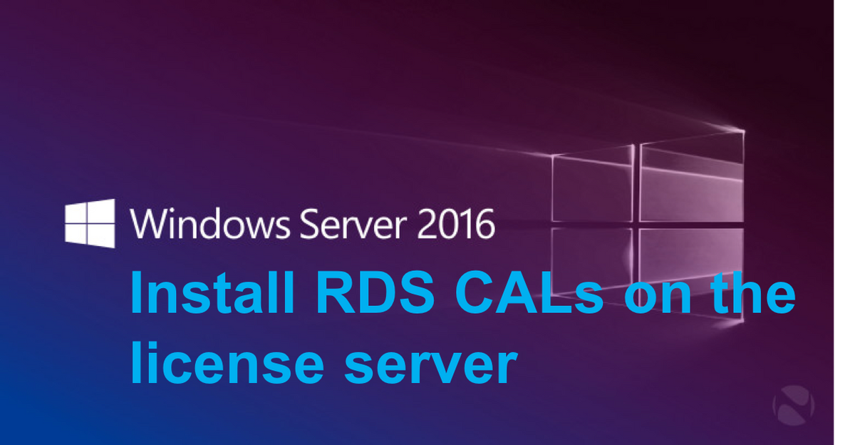 Install RDS client access licenses on the Remote Desktop license server